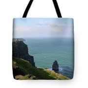 Beautiful Rocky Towering Sea Cliffs Along The Cliff's Of Moher Tote Bag