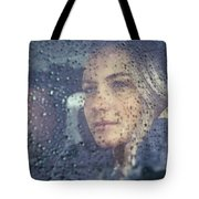 Beautiful Sad Woman In The Car Tote Bag