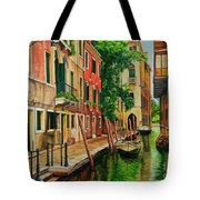 Beautiful Side Canal In Venice Tote Bag