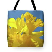 Beautiful Spring Daffodil Bouquet Flowers Blue Sky Art Prints Baslee Troutman Tote Bag