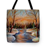 Beautiful  Spring Thaw Tote Bag