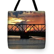 Beautiful Sunset Bridge  Tote Bag