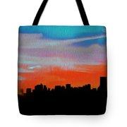 Beautiful Sunset Oil Paint Tote Bag
