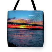 Beautiful Sunset Under The Bridge Tote Bag