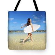 Beautiful Surfer Girl Tote Bag