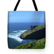 Beautiful Sweeping Views Of Ireland's Cliff's Of Moher Tote Bag