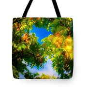 Beautiful Tree Tops In Sky Tote Bag
