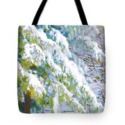 Beautiful Trees Covered With Snow In Winter Park Tote Bag