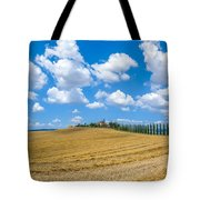 Beautiful Tuscany Landscape With Traditional Farm House And Dram Tote Bag