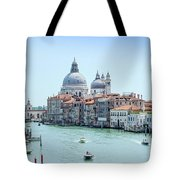 Beautiful View Of Water Street And Old Buildings In Venice, Ital Tote Bag