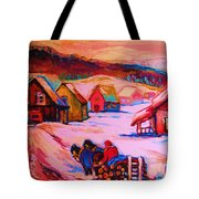Beautiful Village Ride Tote Bag