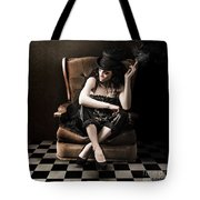 Beautiful Vintage Fashion Girl In Grunge Interior Tote Bag by Jorgo Photography - Wall Art Gallery