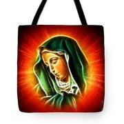 Beautiful Virgin Mary Portrait Tote Bag