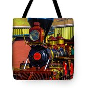 Beautiful Virgina And Truckee Steam Train Tote Bag