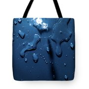 Beautiful Water Splashes Viewed From Above Tote Bag