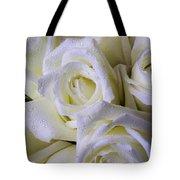 Beautiful White Roses Tote Bag