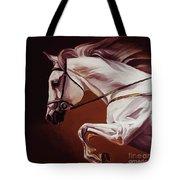 Beautiful White Running Horse 9iu Tote Bag