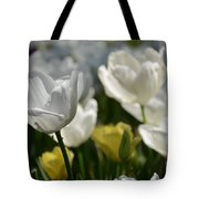 Beautiful White Tulips Tote Bag