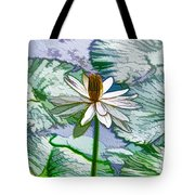 Beautiful White Water Lilies Flower Tote Bag