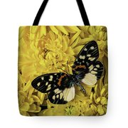 Beautiful Wings On Yellow Mums Tote Bag