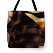 Beautiful Woman With Hair Extensions Tote Bag