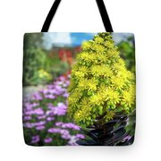 Beautiful Yellow Flowers On A Garden Background Tote Bag