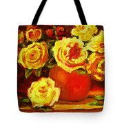 Beautiful Yellow Roses Tote Bag