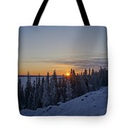 Beautiful Yellowknife Sunrise Tote Bag