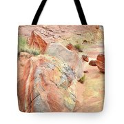 Beautifully Colored Boulders In Wash 3 - Valley Of Fire Tote Bag