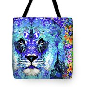 Beauty And The Beast - Lion Art - Sharon Cummings Tote Bag
