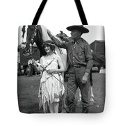Beauty And The Cowboy Tote Bag