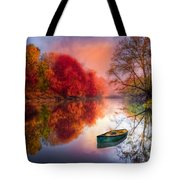 Beauty At The Lake Tote Bag by Debra and Dave Vanderlaan