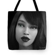 Beauty In B/w Tote Bag