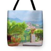 Beauty In Capri Tote Bag