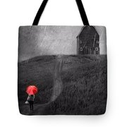 Beauty In The Silver Rain Bw Tote Bag