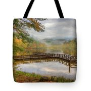 Beauty Of The Lake Oil Painting  Tote Bag