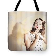 Beauty Parlour Pinup Tote Bag