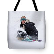 Beauty Sliding Backwards With A Smile Tote Bag