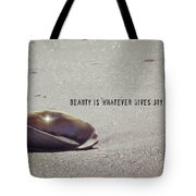 Beauty Star Quote Tote Bag