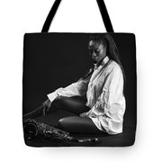 Beauty With Sax Tote Bag