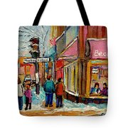 Beautys Luncheonette Montreal Tote Bag