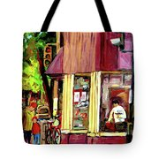 Beautys Luncheonette Montreal Diner Tote Bag