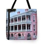 Beauutiful Pink Colonial Style Mansion Tote Bag