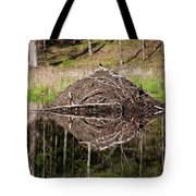 Beaver Lodge Reflection Tote Bag