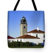 Beavertail Lighthouse Rhode Island Tote Bag