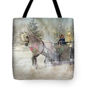 Because I Could Not Stop For Death Tote Bag