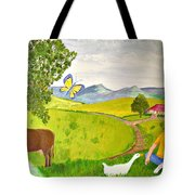 Becky And The Butterfly Tote Bag
