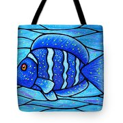 Beckys Blue Tropical Fish Tote Bag