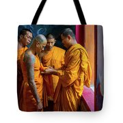 Becoming A Monk Tote Bag
