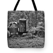 Becoming A Part Of The Landscape Black And White Tote Bag